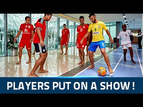 Beach Soccer stars cause a stir at the Dubai Sports Council HQ!