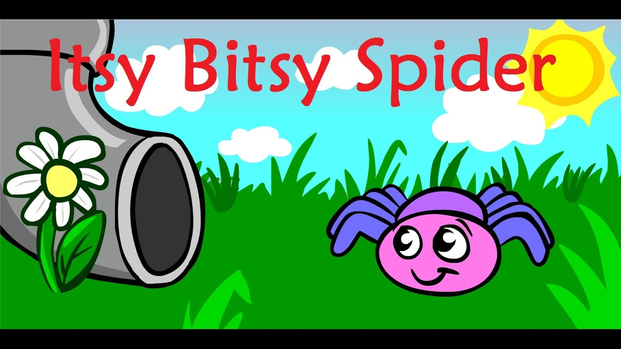 the itsy bitsy spider song kids learning videos youtube spider clip art free spider clip art black and white