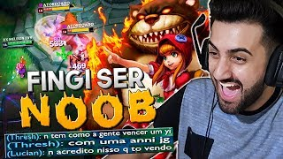 FINGI SER NOOB AO PEGAR ANNIE JUNGLE! *YASUO OPEN + BOT LANE FEEDER* - RodiL