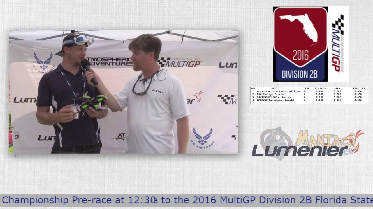 "2016 MultiGP 2B Florida Finals Mackenna ""McFly"" McClure Interview"