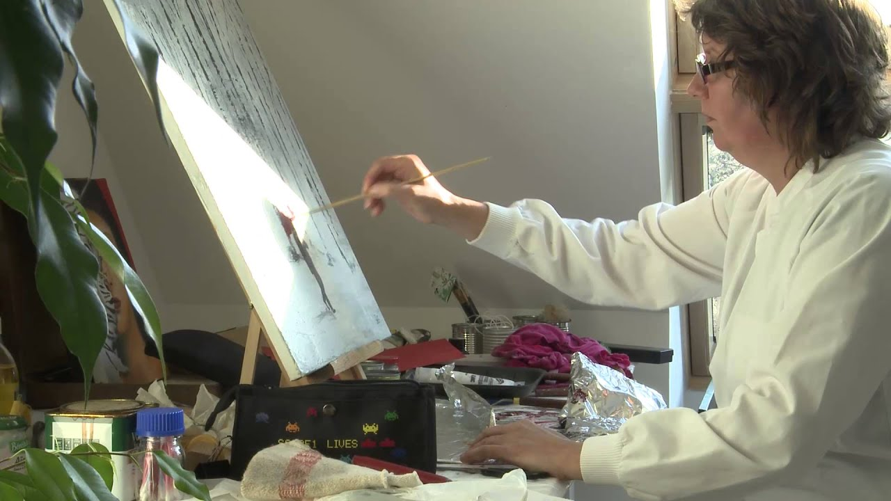 cr ation d 39 un atelier de peinture dans comble avec plancher de verre youtube. Black Bedroom Furniture Sets. Home Design Ideas