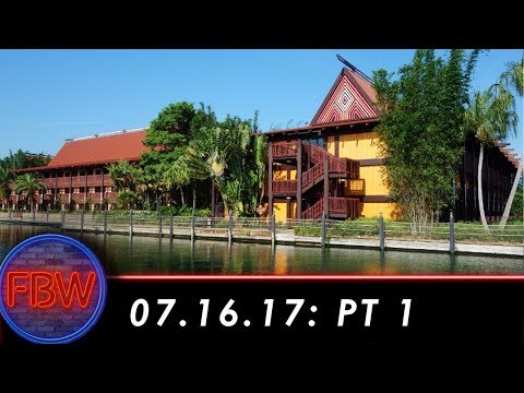 Tour of Walt Disney World Polynesian Resort | 07/16/2017 pt. 1