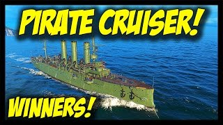 ► World of Warships: Pirate Cruiser Diana + Winners! (3x Diana, Fujin, Blyskawica)