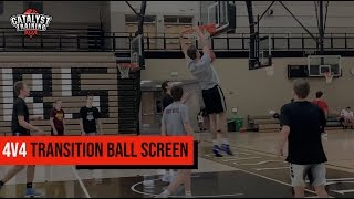 4 on 4 Transition Ball Screen - TEAM COMPETITION