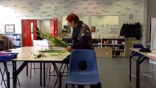 Hand tied one flower with bear grass frame - part 2