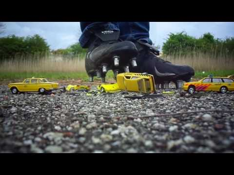 New crush of toy cars with my Rugby cleats