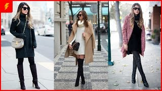 How to Look Trendy with Turtleneck Sweater Dress