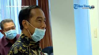 Presiden Jokowi dan Iriana Jenguk Ani Yudhoyono di Singapura