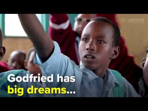 Godfried has big dreams - UNHCR and H&M Foundation in Rwanda