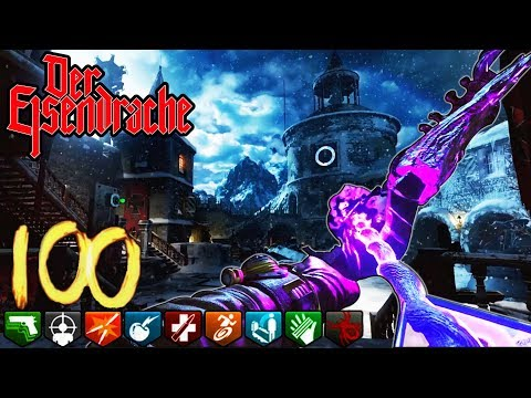 'DER EISENDRACHE' ROUND 100 EASTER EGG BOSS FIGHT CHALLENGE! - (Call of Duty Black Ops 3 Zombies)