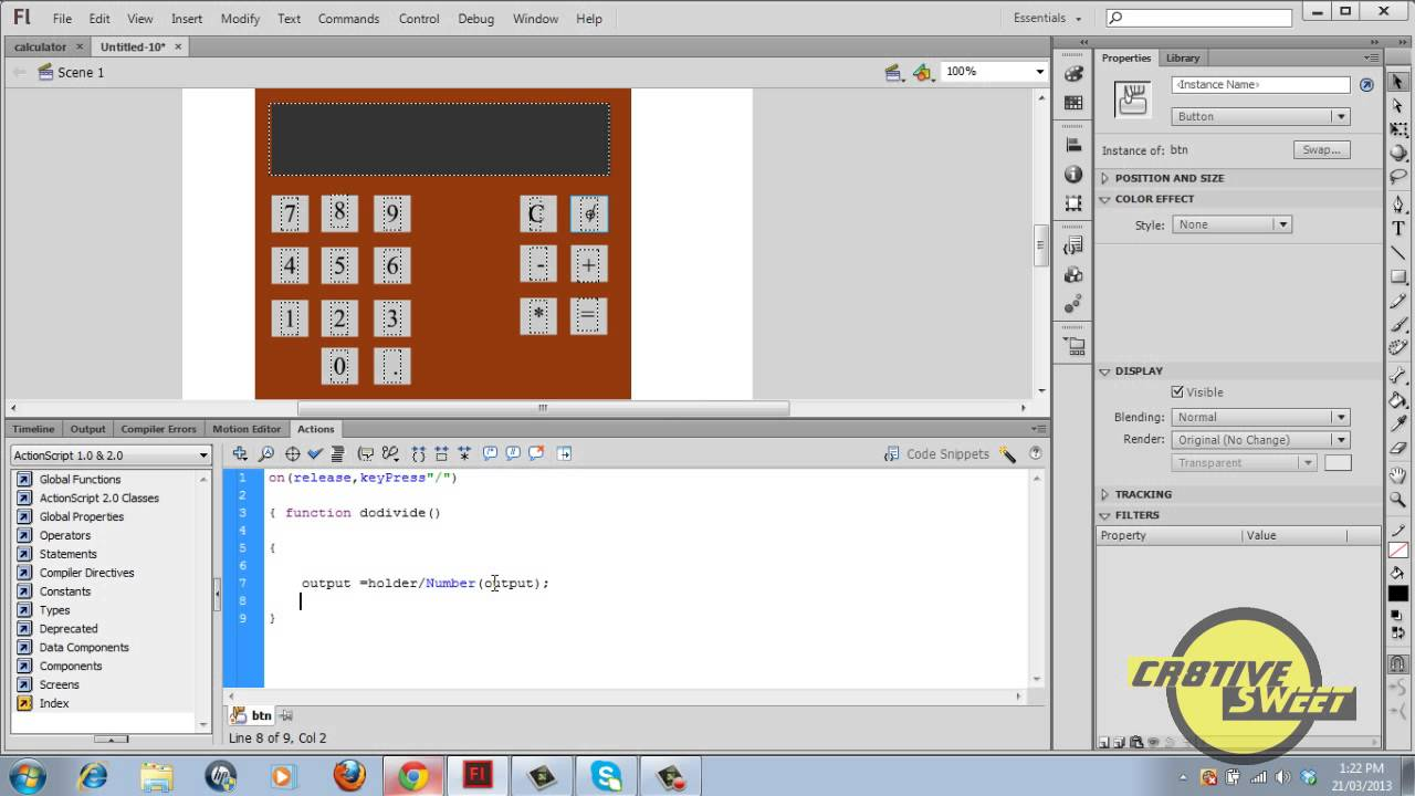 How to make a calculator in macromedia flash 8 | rishab gaming.