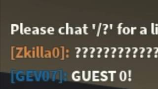 Roblox GUEST 0 Sighting!!!