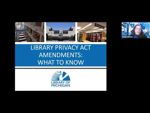 Download Library Law Spotlight January 2021: Library Privacy Act Amendments