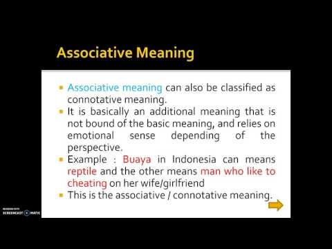 Types of Meanings in Semantics