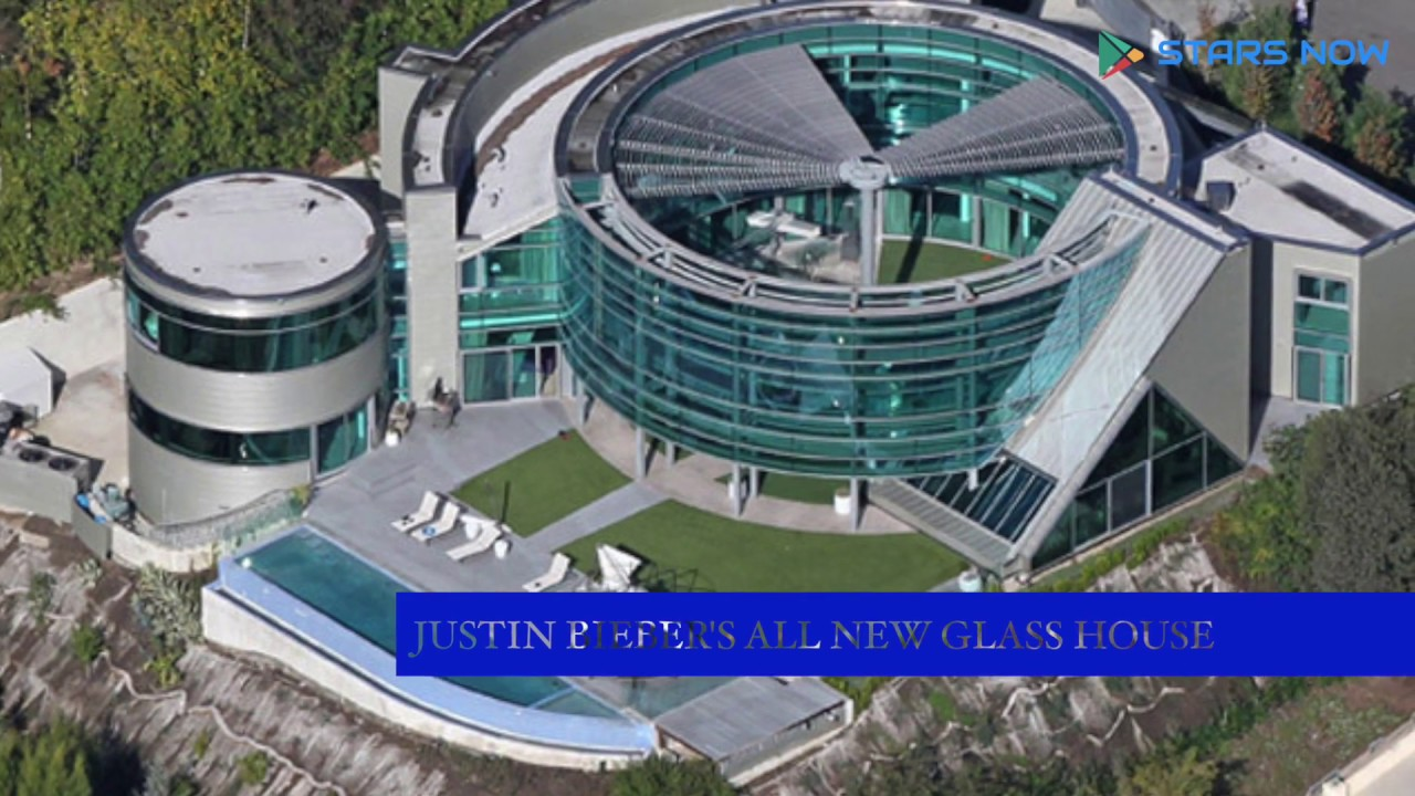 Justin Biebers ALL NEW Glass House In Beverly Hills