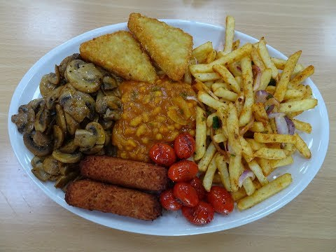 Fully Loaded English Vegetarian Breakfast with a Spicy Indian Twist at Kenton Lane Cafe (KLC) London