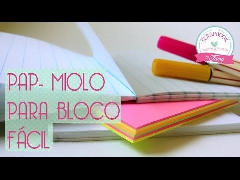 PAP Miolo para bloco fácil- Scrapbook by Tamy