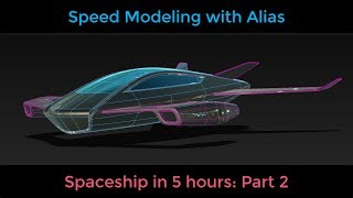 Speed Modeling in Alias: Space Ship part 2