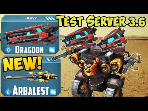 War Robots Test Server 3.6 New Weapon Arbalest & Dragoon Gameplay & Spectre
