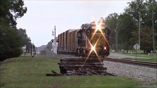 Killer Double Horn Show from 1st & 2nd locomotive Notch 8 GP38-2/RCO GP38-2 Making a run to the yard