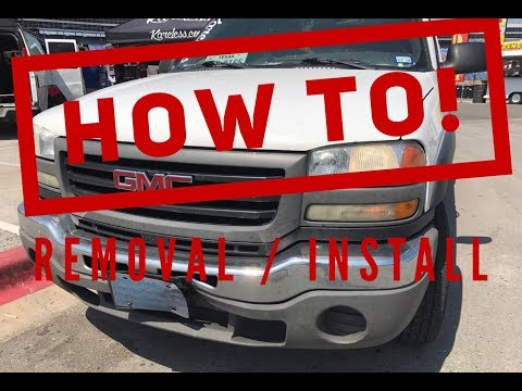 HOW TO – 2000 – 2006  GMC / CHEVY Sierra Front Bumper REMOVAL & Replacement