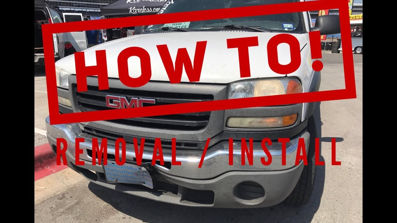 how to 2000 2006 gmc chevy sierra front bumper removal replacement youtube how to 2000 2006 gmc chevy sierra front bumper removal replacement