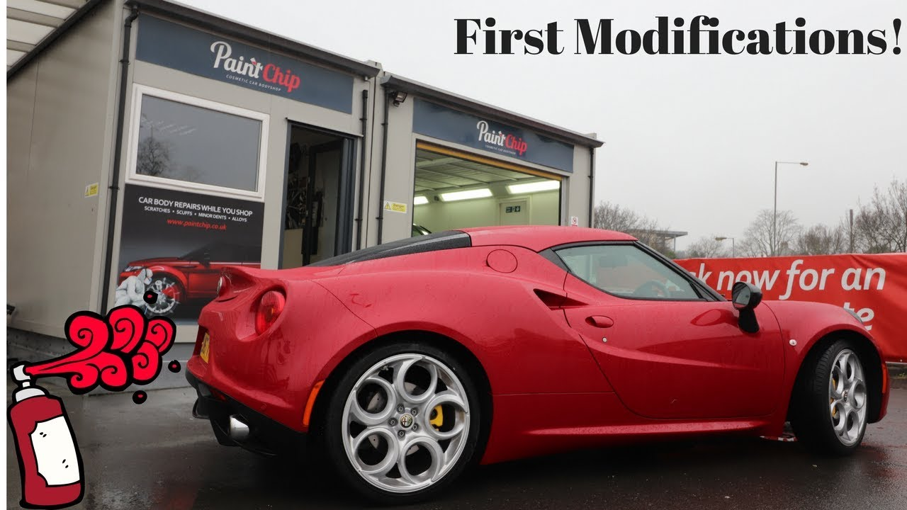 Update Vlog First Modifications To The Alfa Romeo 4c Youtube