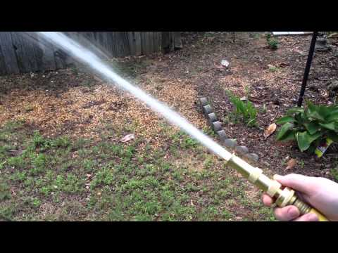 Hose Nozzle High Pressure and Flow Demonstration - for Car or Garden - Made in USA