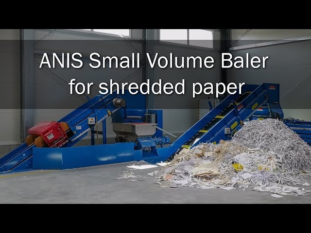 ANIS Small Volume Baler for shredded paper