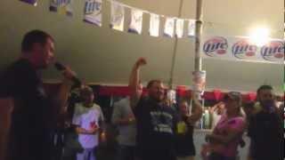 """Hillbilly Deluxe"" Brooks & Dunn Karaoke at Dodge County Fair 8-15-2012"