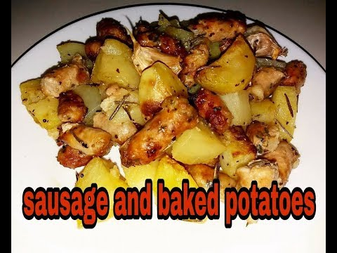 sausage and backed potatoes - salsiccia e patate al forno