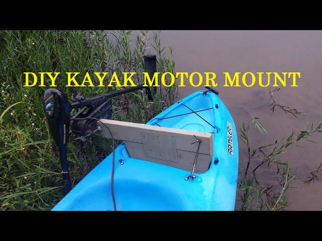 Diy Kayak Trolling Motor Mount You