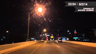 CarCamApp Night Time-Lapse test