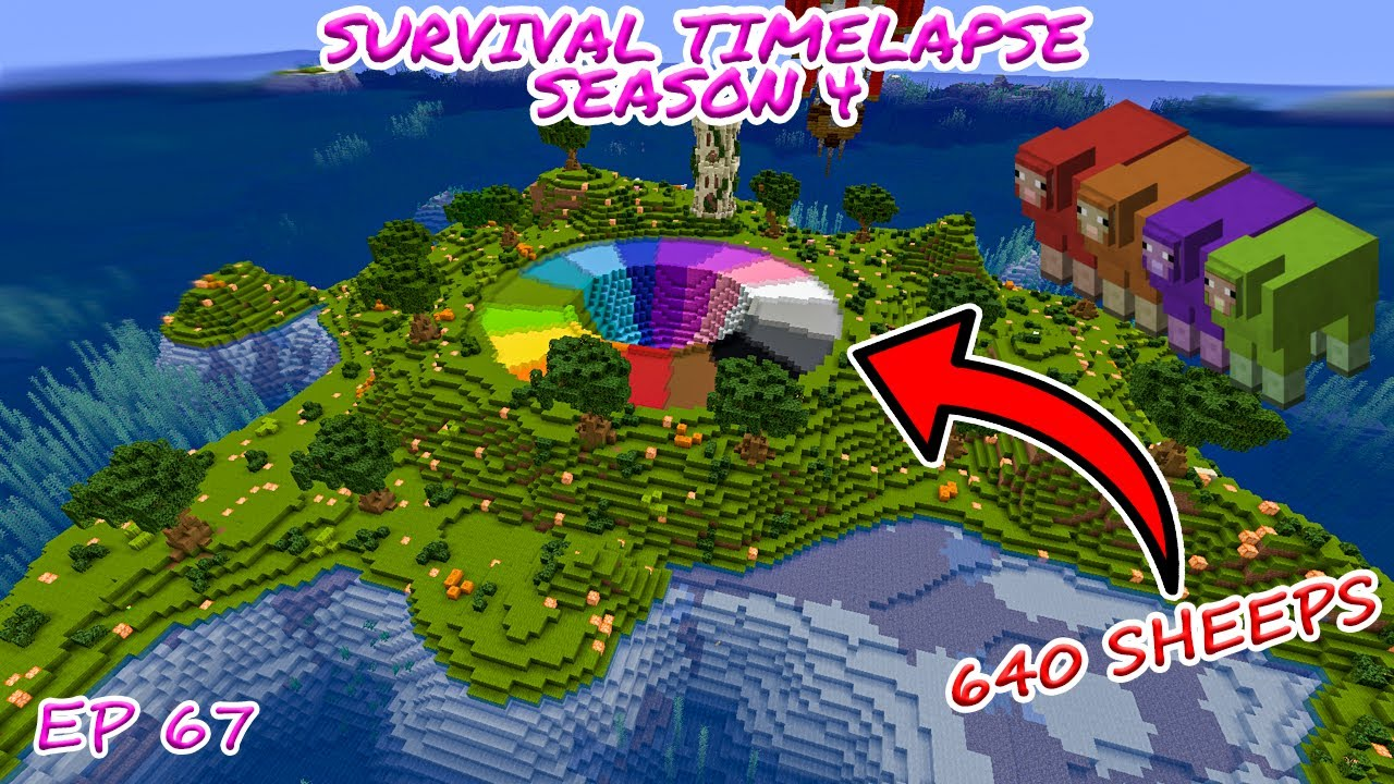 Download The Most Insane Project I've ever made! (Wool Farm) Minecraft Survival Timelapse S 4 Episode 67