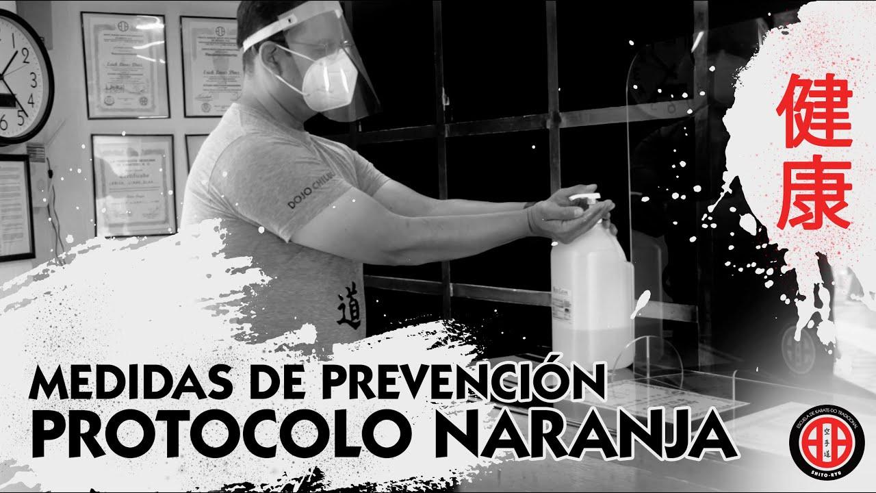 Medidas de prevención en el Dojo para cumplir con el protocolo naranja.