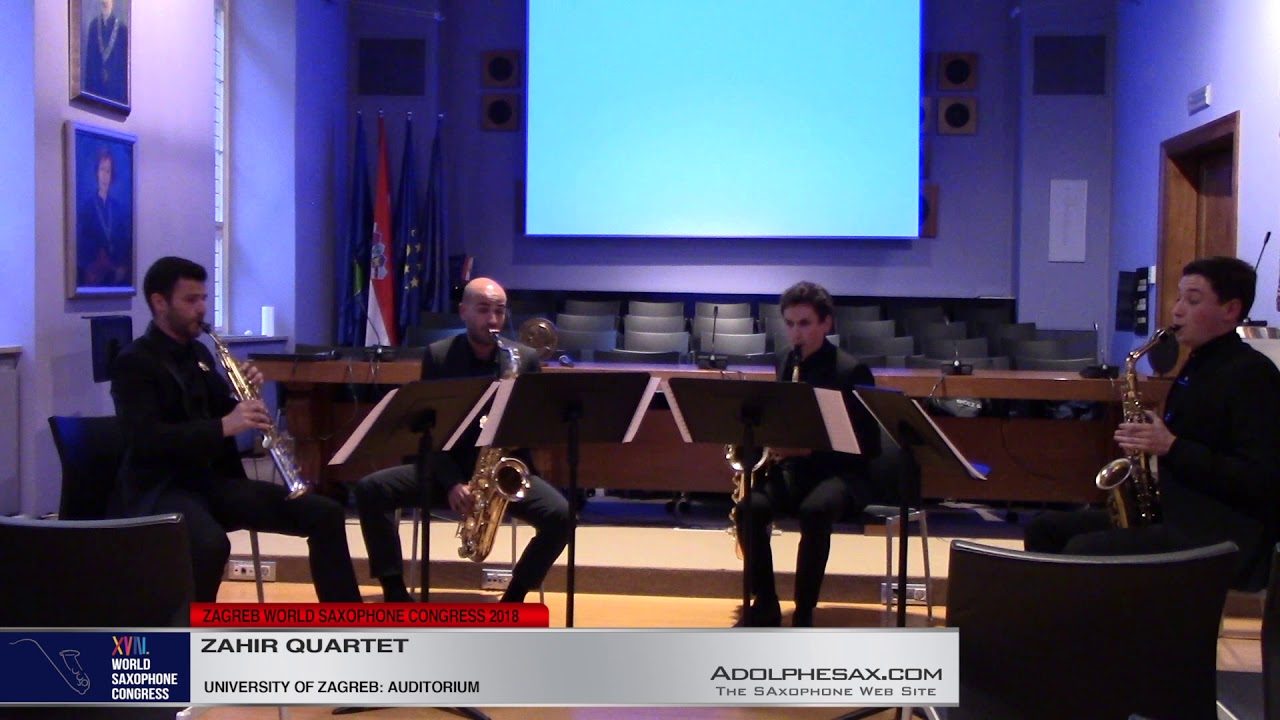 String Quartet Nº2 by Alexander Borodine   Zahir Quartet   XVIII World Sax Congress 2018 #adolphesax