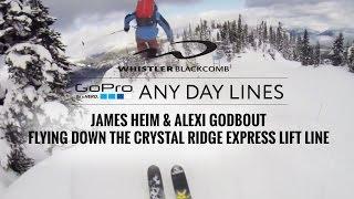 GoPro: James Heim & Alexi Godbout ski Crystal Lift Line