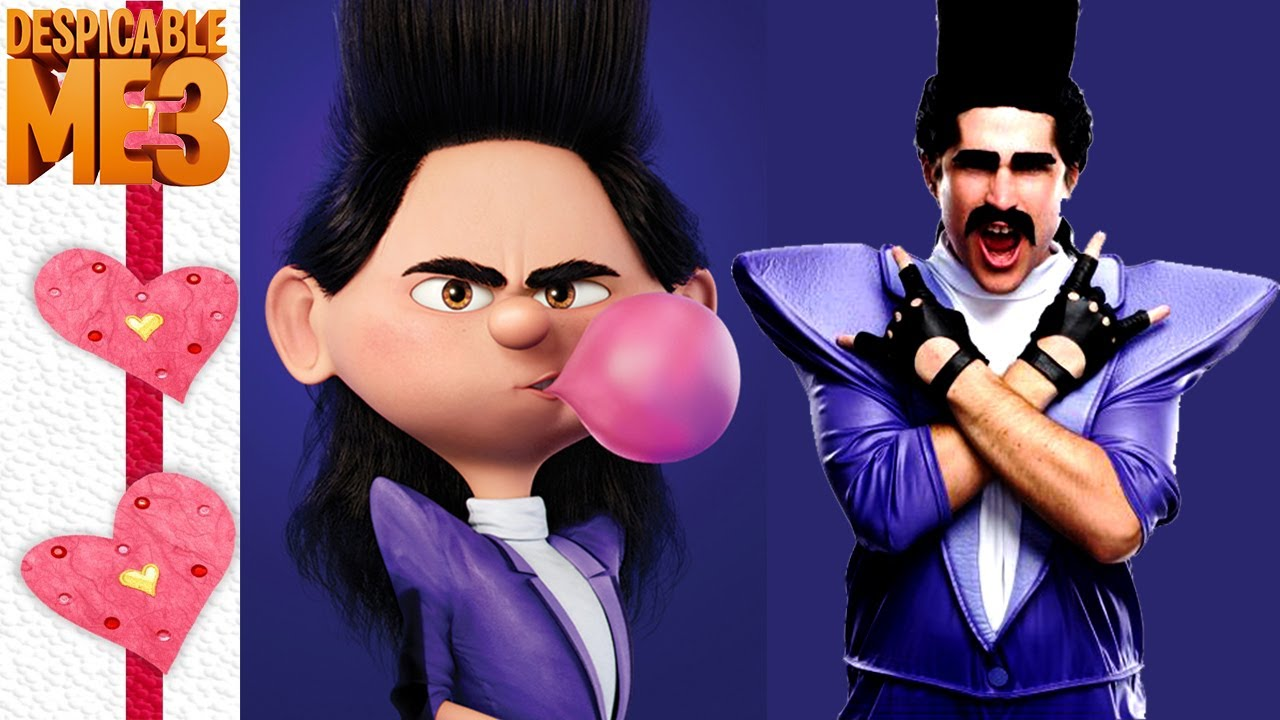 despicable me 3 characters in real life despicable me irl youtube