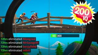 Best Fortnite 200 IQ PLAYS and PREDICTIONS! #10