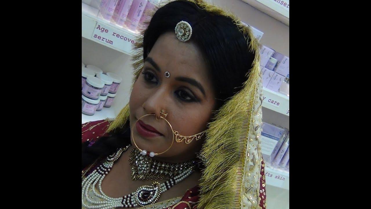 ec1492bbe5 Indian Bridal Makeup - Rajasthani Bridal Makeup - YouTube