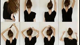 видео Как делать шишку на голове из волос