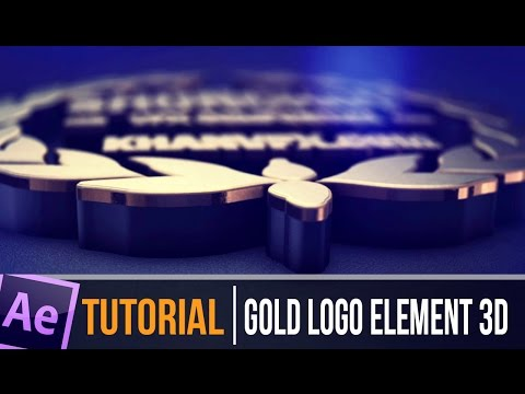 TUTORIAL | After Effects 3D Gold Logo Reveal Epic V 2