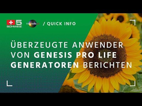 Überzeugte Anwender von Genesis pro life Generatoren berichten - TTD Quickinfo vom 21.09.2018
