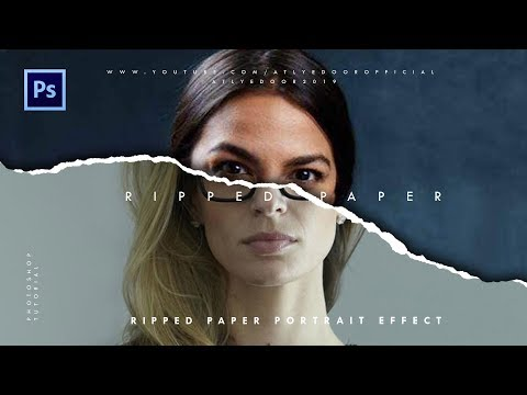 Ripped Paper Portrait Effect | Photoshop Tutorials thumbnail