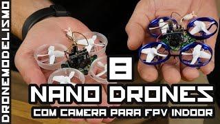 8 micro DRONES para FPV INDOOR 2017
