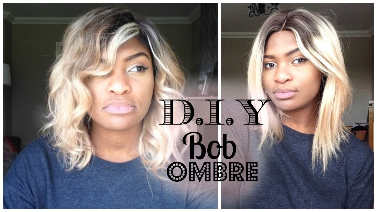 DIY BOB OMBRE HAIR TUTORIAL WOWAfricanHair YouTube