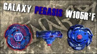 Galaxy Pegasis W105R²F VS Gravity Perseus AD145WD - AMVBB Beyblade Battle