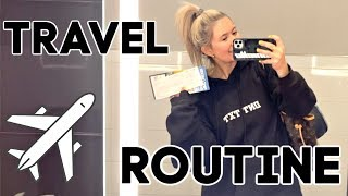 MY TRAVEL ROUTINE: how i pack, what's in my carry on, travel tips, outfit, + more!