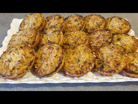 mini-quiches-au-poulet,champignon-et-carotte.-كيش-بصدر-الدجاج-والشومبينيو