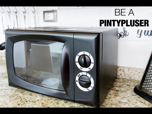 Cómo pintar un microondas en negro mate